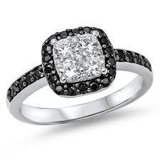 black cubic zirconia engagement rings cubic zirconia wedding sets and engagement rings black