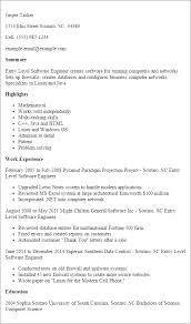 Software Developer Resume Professional Entry Level Software Engineer Templates To Showcase