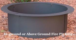 Firepit Liner Steel Pit Liner How To Build A Pit Easily In