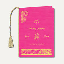 Wedding Program Ceremony Wedding Ceremony U0026 Program Book Indian Wedding Stationery