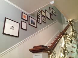 hanging pictures in a stairway home design u0026 architecture