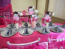 zebra print centerpieces for baby shower baby shower de zebrita