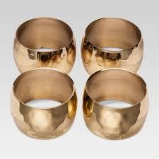 large gold rings images Hammered napkin ring gold large 4pk threshold target