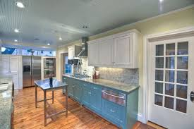 white cabinets on top blue on bottom 33 blue and white kitchens design ideas designing idea