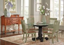 rooms to go dinner table cindy crawford home ocean grove black 5 pc glass top dining room w