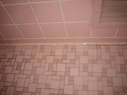 super cute pink tile bathroom u2014 new basement and tile ideas