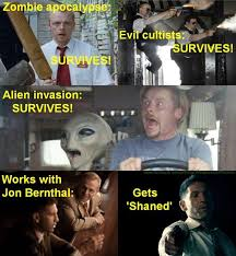 Shaun Of The Dead Meme - that time the walking dead s andrew lincoln scared the crap out of