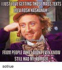 Mass Text Meme - just love getting those mass texts erev rosh hashanah from people
