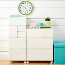 Modular Drawer Cabinet White Opaque Modular Stackable Drawers The Container Store