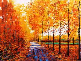 Impressionist Landscape Painting by Graham Gercken Australian Impressionist Landscape Painter B