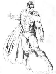 man of steel coloring pages getcoloringpages com