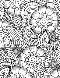 free printable coloring page flower collage картинки pinterest