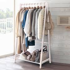 online shop wood coat hanger floor rack bedroom regarding clothing