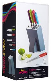 kitchen craft knives kitchen craft colourworks 5 knife set with storage block