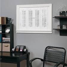 interior shutters home depot homebasics traditional faux wood white interior shutter price
