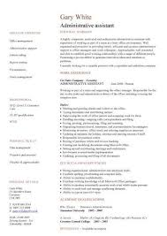 example resume for administrative position l amp r administrative