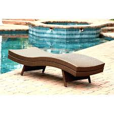 Outdoor Wicker Chaise Lounge Chaise Lounges Living Outdoor Adjustable Brown Wicker Chaise