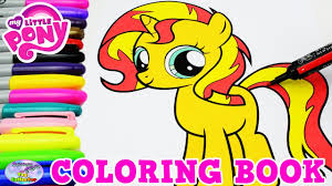 my little pony coloring book sunset shimmer filly mlp episode