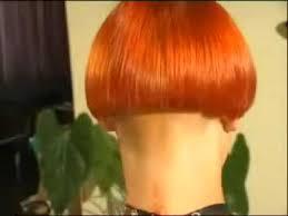 redhair nape shave orange bowlcut youtube