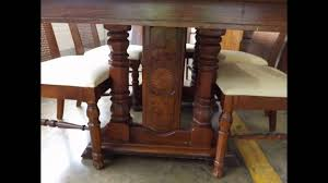 Wood Dining Room Chairs by Antique Broyhill Burl Wood Dining Room Set Youtube