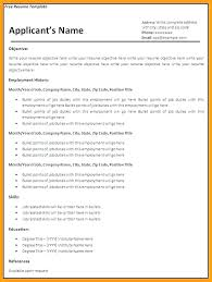 resume templates word format free resume templates with bullet points printable resume