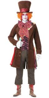 Mad Hatter Halloween Costume Discount Mad Hatter Halloween Costumes Men Kids Sale