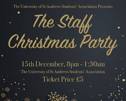 the university of st andrews staff christmas party
