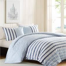 seersucker blue and white stripe duvet bedding u2013 sky iris