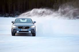 used volvo trucks for sale in sweden 2017 volvo v90 cross country on ice in sweden the drive