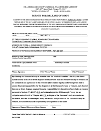 florida direct cremation fillable online permit for release of florida direct