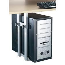 monter ordinateur de bureau support de pc pour un montage sous le bureau prix pas cher cdiscount