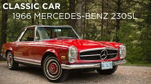 classic red mercedes classic car 1966 mercedes benz 230sl driving ca youtube