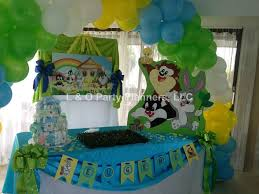 baby looney tunes baby shower decorations baby looney tunes baby shower party ideas photo 1 of 34 catch