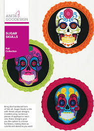 sugar skulls day of the dead embroidery design goodesign