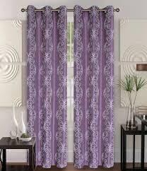 Plum Faux Silk Curtains Pair Of Owen Ivory Faux Silk Window Curtain Panels W Grommets
