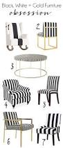 Black And Gold Accent Chair Black And White Brass Parsons Chair Covers Makeover Cuckoo4design