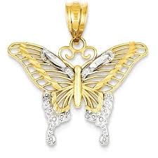 butterfly pendant necklace gold images Icecarats 14k yellow gold butterfly pendant charm necklace animal jpeg