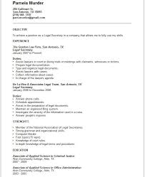 Sample Resume Legal Assistant by Legal Secretary Resume Template