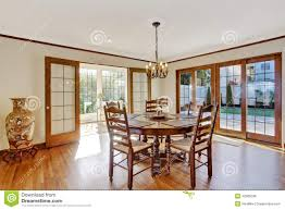 luxury dining room with round table and chairs stock photo image
