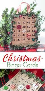 christmas bingo cards to play or hang on your tree
