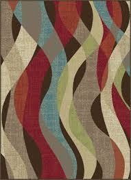 Modern Rugs Direct by Tayse Area Rugs Deco Rugs Dco1013 Brown 5x8 6x9 Rugs Rugs