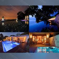 swimming pool light fittings zd 01waterproof safely use easy installation fiber optic pool light