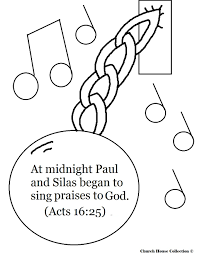 paul and silas in prison coloring page free download