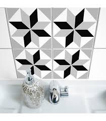 sticker pour carrelage cuisine stickers pour carrelage de salle de bain ou cuisine polygon