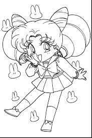wonderful sailor chibi moon coloring pages with chibi coloring