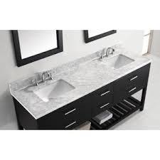 White Bath Vanity With Top Modern Double Bathroom Vanities Allmodern
