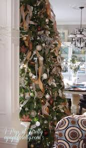 how to add ribbon to a tree part two christmas tree champagne