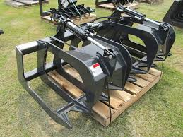 stout skid steer brush grapples attachment smith equipment