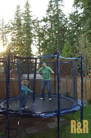 wonderful trampoline small backyard images decoration ideas amys