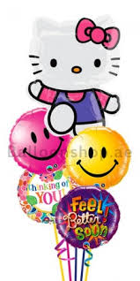 hello balloon delivery hello get well balloon bouquet delivery in dubai abu dhabi uae